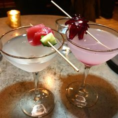 Drinks make for a great appetizer for sushi! Checking out for the first time. Name (left) and Crimson Geisha (right) Tag a friend who needs a drink. Great Appetizers, Geisha, First Time, Sushi, Nom Nom, Drinks, How To Make, Instagram, Drink