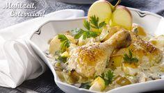 Steirisches Apfelhendl #chicken #austrian #recipe #apple #hendl #yummy Austrian Recipes, Austrian Food, Fresh Rolls, Main Dishes, Food Porn, Dinner Recipes, Turkey, Meat, Chicken