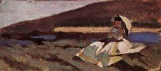 I Macchiaioli. Giovanni Fattori: Donna con ombrella (1866)