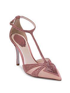 Rene Caovilla - Embellished Strass Satin Pumps. Studded PumpsBridal Wedding  ShoesSpecial Occasion ShoesRene CaovillaSatin PumpsStiletto HeelsWedge ... 20d89791ecde