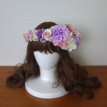 前撮り&お色直しに☆ パープル系のデザイン花冠♡ |Ordermade Wedding Flower Item MY FLOWER ♪ まゆこのブログ