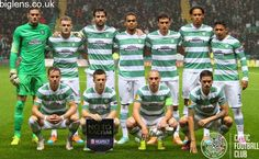Celtic 2 - 1 FC Astra, 23rd October 2014. The team pose for a photo ahead of kick-off.