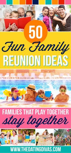Fun Family Reunion Ideas Reunion Ideas, Family Reunion Themes, Family Reunion Activities, Family Fun Games, Family Traditions, Family Reunions, Youth Activities, Group Games, Indoor Activities