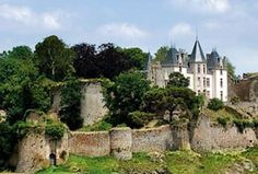 Chateau de Bressuire - Poitou-Charentes - this photo shows ruins of the old chateau, which dates to the 11th and 12th centuries