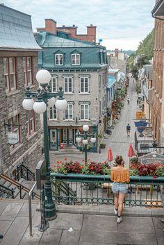 Visiter la ville de Québec, la chute Montmorency et l'île d'Orléans Moving To Canada, Canada Travel, Canada Trip, Montreal Quebec, Quebec City, Chute Montmorency, Le Petit Champlain, Paris Ville, North America