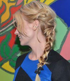 10 Chic Chunky Messy Braids: January Jones Braided Hairstyles