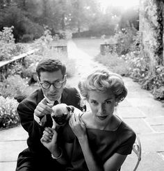 "birdasaurus:  ""Richard and Evelyn Avedon,1955 Cecil Beaton  """
