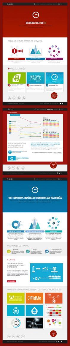 Site internet 10h11  #infographic #datavisualisation #website