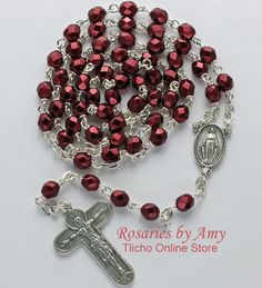 Theotokos Rosary 191C made by Amy Hoffman of Yellowknife, NT. $58.50 Tlicho Online Store