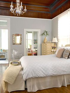 blue grey wall colors | ... , light, airy, blue, gray, walls, paint, color, mirror, Thanks to BHG
