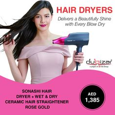 Deliver a #Beutifully #Glossy Frizz-Free #Shine with every #BlowDry     #HairDryer #Dryer #HairStraightner #HairStyle #Style #Fashion #Dubai #Discount
