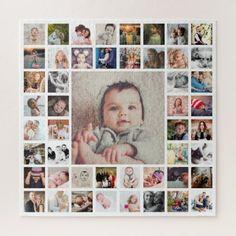 Custom Photo Jigsaw Puzzle | Zazzle.com Personalised Jigsaw Puzzle, Personalized Posters, Personalised Canvas, Personalized Wall Art, Personalized Photo Gifts, Wall Collage Decor, Photo Wall Collage, Collage Ideas, Photo Memories