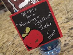 Teacher Appreciation: Water Bottle Candy Holder