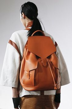 luxurious leather rucksack from Christophe Lemaire