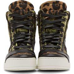 Balmain Green Jungle Kol High-Top Sneakers