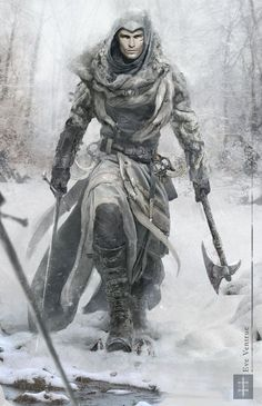 Assassins Creed - Snow Edition by EVentrue armor clothes clothing fashion player character npc | Create your own roleplaying game material w/ RPG Bard: www.rpgbard.com | Writing inspiration for Dungeons and Dragons DND D&D Pathfinder PFRPG Warhammer 40k Star Wars Shadowrun Call of Cthulhu Lord of the Rings LoTR + d20 fantasy science fiction scifi horror design | Not Trusty Sword art: click artwork for source: