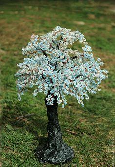 """Купить Дерево"""" Изменчивый март"""" - голубой, зима, весна, зимнее дерево, весеннее дерево"""