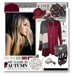 """""""Style with alinaboutique.com"""" by hamaly ❤ liked on Polyvore featuring Burberry, Valentino, Hourglass Cosmetics, dresses, cardigan, fallstyle, gigihadid and alinaboutique"""