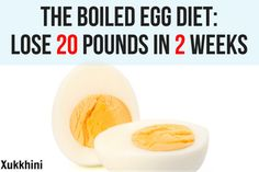 The Boiled Egg Diet: Lose 20 pounds in 2 weeks. Stop gambling your health with fad diets and lose weight with the revolutionary boiled egg diet.