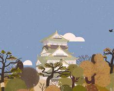 Osaka Castle on Behance