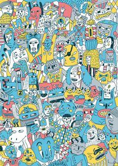 Full of Monsters Poster Art Print