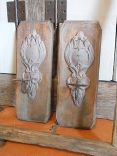 Wand kandelaars hout