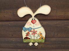 Hoppy Spring Rabbit Wall Decor