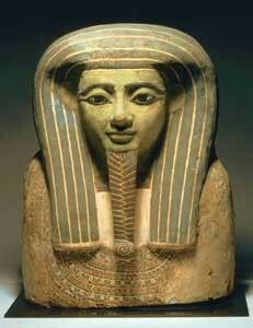 Ancient Egyptian painted wooden mummy mask 1295 to 1187 B.C.