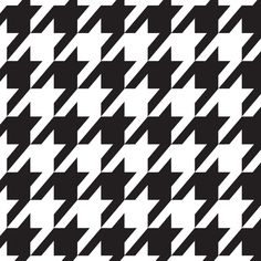 black and white pattedrns | Black and White Houndstooth Pattern