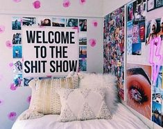Dorm Room Welcome to the Shit Show Printable Poster Digital Print Monochrome Typ. Dorm Room Welcome to the Shit Show Printable Poster Digital Print Monochrome Typography Wall Decor Art College Cubicle Office Work College Bedroom Decor, Room Ideas Bedroom, College Dorm Rooms, Wall Decor For Dorm, Bedroom Wall, Dorm Room Decorations, Girls Bedroom, Teen Bedroom Colors, Dorm Room Themes