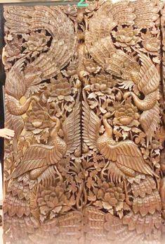 1 Set Extra Thick Headboard 60cm 200cm Mandala Lotus Flower | Etsy Wooden Wall Art Panels, Large Wood Wall Art, Panel Wall Art, Decorative Panels, Wooden Walls, Wooden Art, Bohemian Headboard, Thai Decor, Wood Carving Art