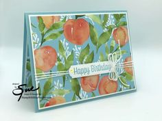 Youre A Peach, Stamping Up, Stampin Up Cards, Paper Crafts, Card Crafts, Birthday Cards, Card Making, Thursday, Happy