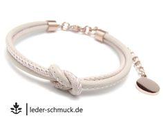Lederarmbänder - Lederarmband Damen | RoséGOLD | GRATIS! Gravur - ein Designerstück von LEDER-Schmuck bei DaWanda