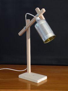 Lampes de chevet, Lampe bois et boîte de conserve • Modèle 5 est une création orginale de Kestufabrik sur DaWanda