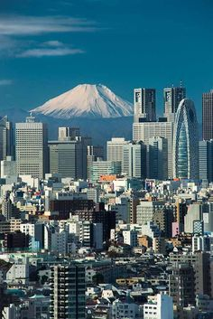 Mt. Fuji towering over Tokyo by Richard Brown / 500px