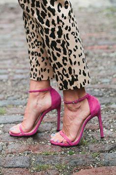Leopard Pants + Pink Heels