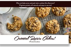 Why not bake some #OatmealRaisinCookies this afternoon? 10 grams protein, all natural, and easy to use mix! #http://bit.ly/2z1b74K