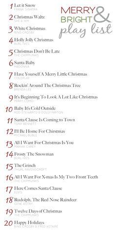 Christmas play list
