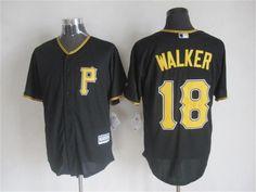 Pittsburgh Pirates #18 Neil Walker Alternate Black 2015 MLB Cool Base Jersey