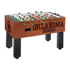 Oklahoma Sooners Laser Engraved Foosball Table Soccer