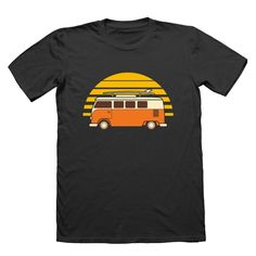 Sunset Van T-Shirt , This t-shirt is Made To Order, one by one printed so we can control the quality. Vans T Shirt, T Shirt And Shorts, T Shirts, Shirt Print Design, Shirt Designs, T Shirt World, Outdoor Fashion, Graphic Tees, Just For You