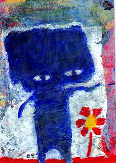 spring is springing e9Art ACEO Outsider Art Brut Raw Expressionism Childlike  #OutsiderArt