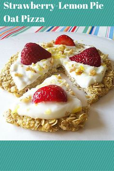 #healthy Strawberry-Lemon Creme Breakfast Pizza!!! This has gotten rave reviews! It's such an easy and delicious breakfast! Everyone loves it!