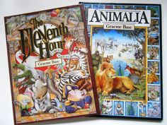 Animalia and The Eleventh Hour, Two Graeme Base Books by lizandjaybooksnmore on Etsy