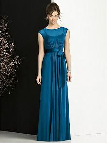 Dessy collection style 6676 - ocean blue