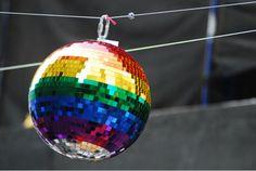 rainbow disco ball!!