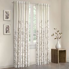 Beautify your living space with this 84-inch curtain panel. This floral panel comes in multiple colors and is machine-washable. The rod-pocket construction makes it easy to hang, and its contemporary style will give your home a modern look.