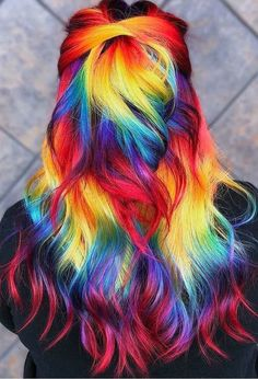 different color amazing hair…. different color amazing hair…. - Unique World Of Hairs Cute Hair Colors, Pretty Hair Color, Beautiful Hair Color, Hair Dye Colors, Rainbow Hair Colors, Colorful Hair, Rainbow Dyed Hair, Pelo Multicolor, Dye My Hair