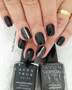 Simple Nail Art Designs That You Can Do Yourself – Your Beautiful Nails New Nail Designs, Nail Polish Designs, Beautiful Nail Designs, Trendy Nails, Cute Nails, Hair And Nails, My Nails, Black Nails, Black Polish