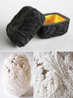 Artist Hitomi Hosono, ceramist. Sculptures, Vessels